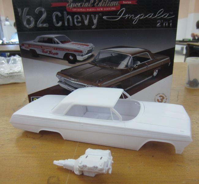 1962 Chevrolet Impala Revell terminé et les Beach boys 005a-vi