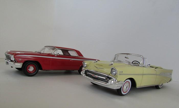 1957 Chevrolet Bel Air décapotable, Revell, terminé et Paul anka  083-vi