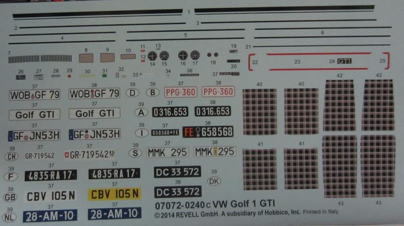 REVELL  Volkswagen Golf I  GTI et Cabriolet!  103-vi