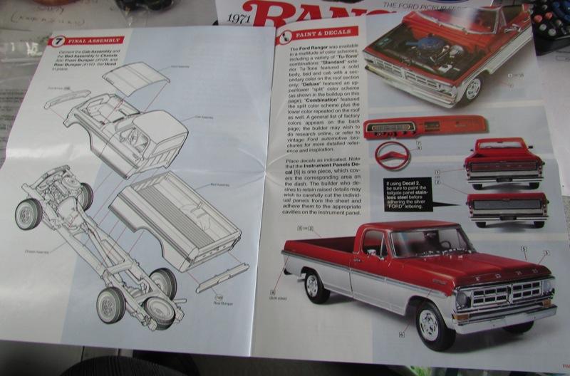 Moebius Ford F100 1969 et le Ford Ranger 1971 0792-vi
