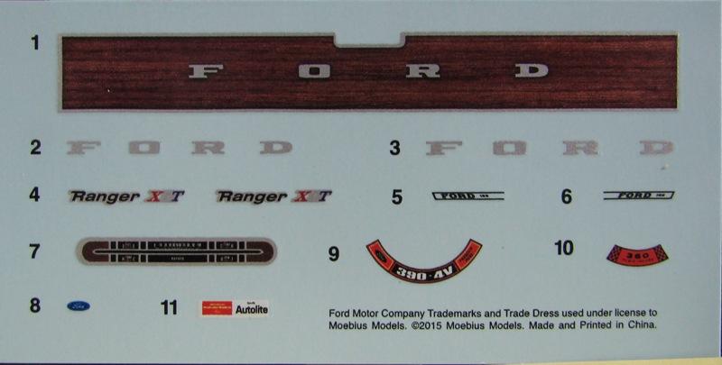 Moebius Ford F100 1969 et le Ford Ranger 1971 0772-vi