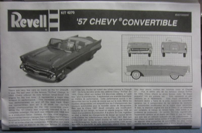 1957 Chevrolet Bel Air décapotable par Revell 085-vi