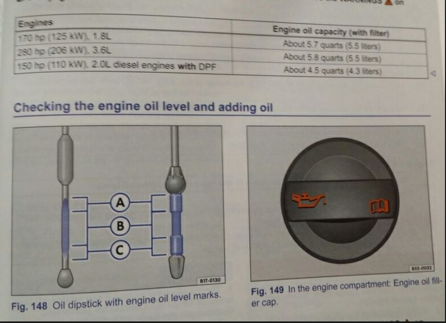 owners manual error incorrect oil capacity tdiclub forums