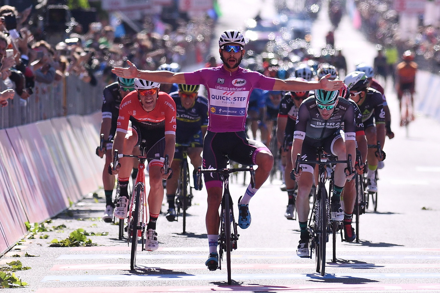 Gavira celebrates wins Stage 13 Giro 2017