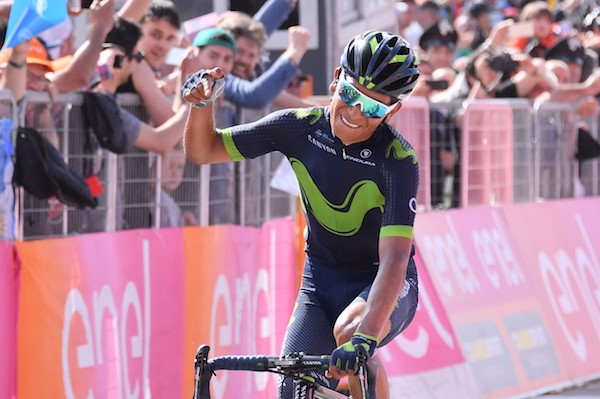 Gavira celebrates wins Stage 3 Giro 2017