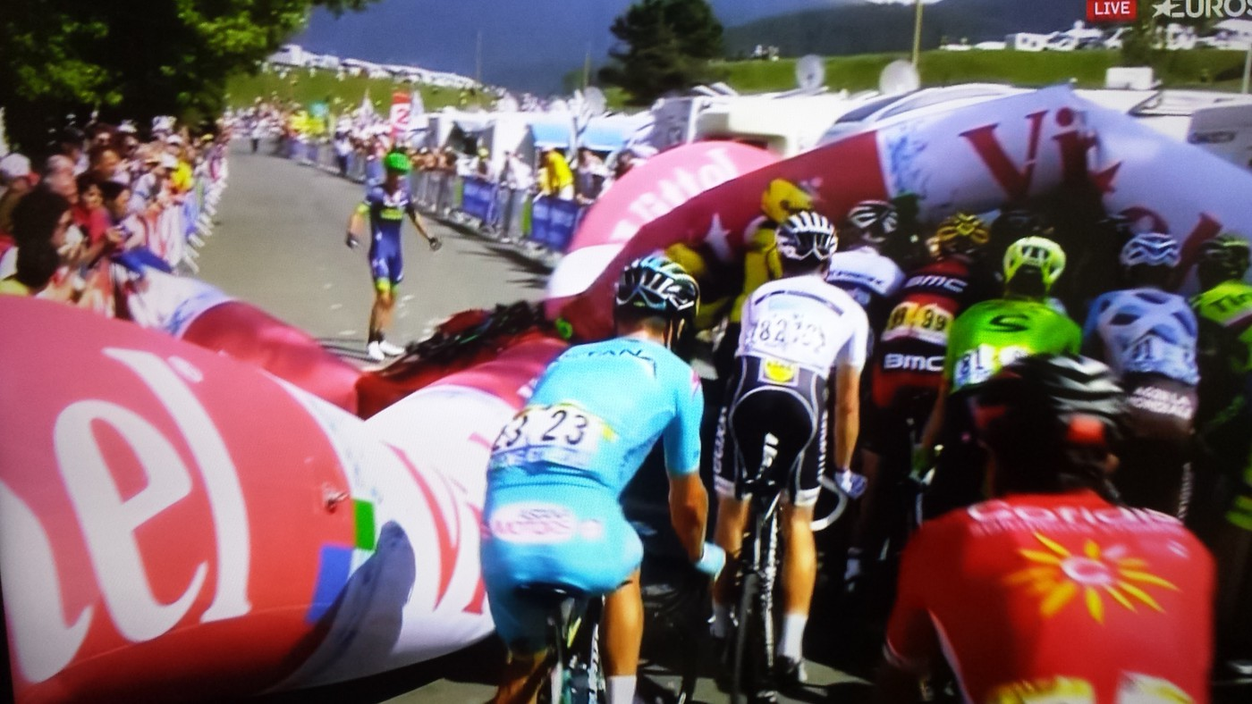 Tour de France riders tackle Tourmalet climb in Stage 8
