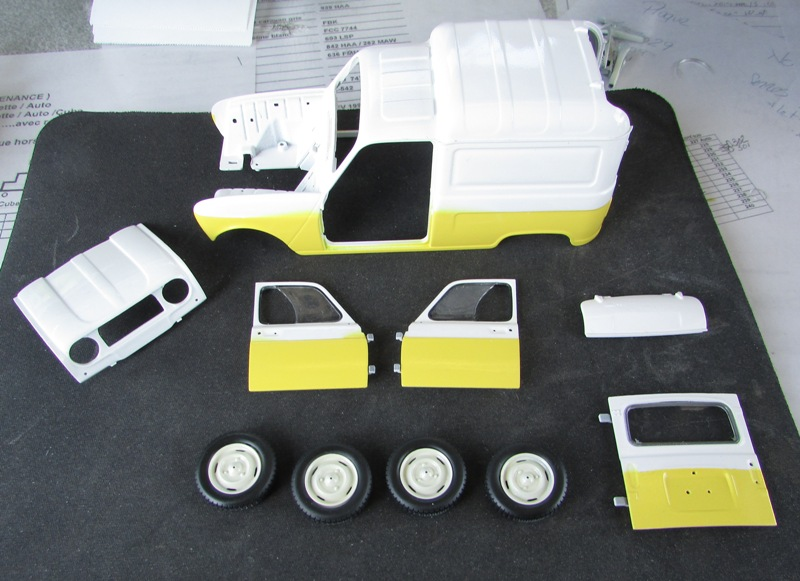 "Renault 4 fourgonnette ""Service Renault"" grosse avancé!  0052-vi"