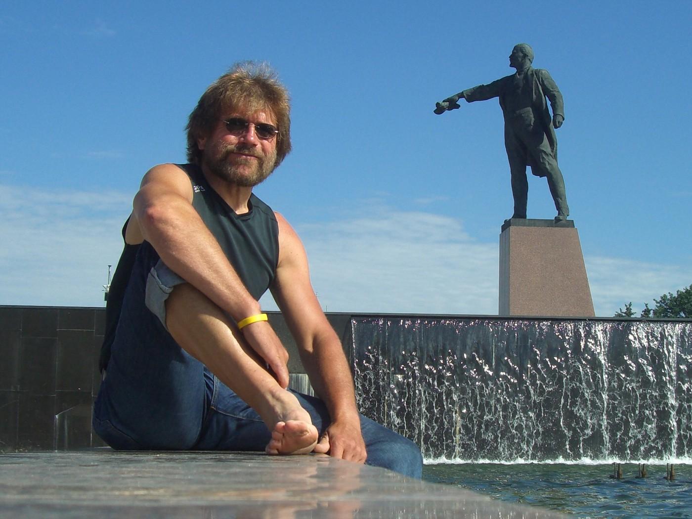 Manfred nach der Tour zufrieden in St. Petersburg