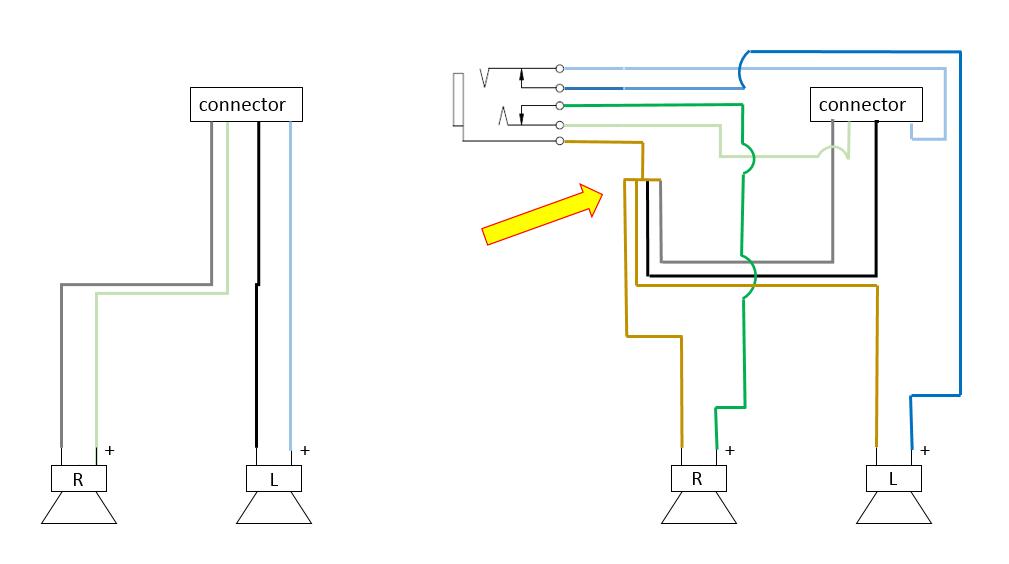 installing headphone jack - background noise now. pls help ... camaro backup camera wiring diagram