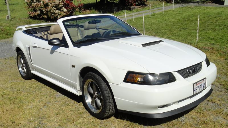 2003 Ford Mustang Gt Premium Package White With Tan Interior And Black Top Always A Garage Kept California Car 106k Driven Miles