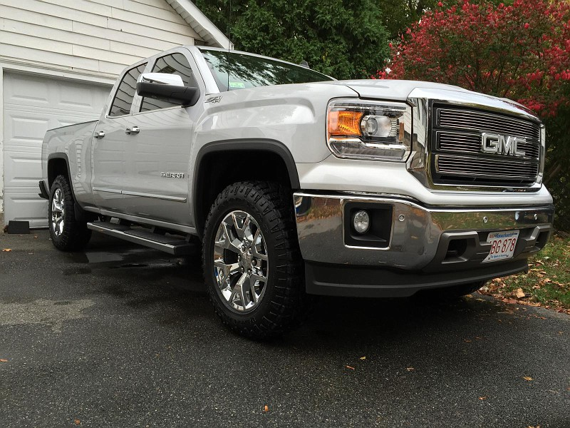 "2014 Sierra 2"" Level 34"" Duratrac's installed and thoughts ..."