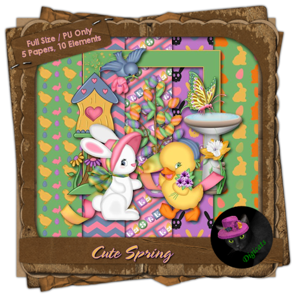 Cute Spring Mini Kit 5 - Easter Garden