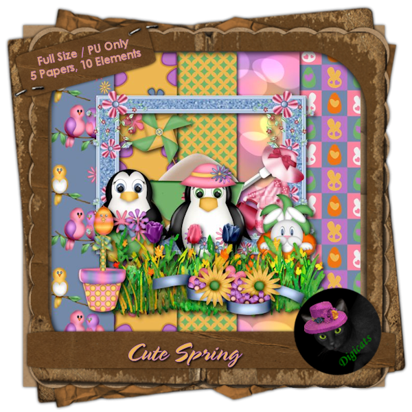 Cute Spring Mini Kit 3 - Penguin's Garden