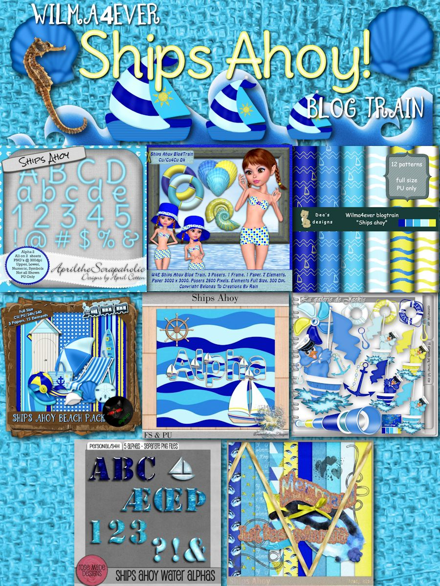Wilma4Ever Ships Ahoy Blog Train Preview