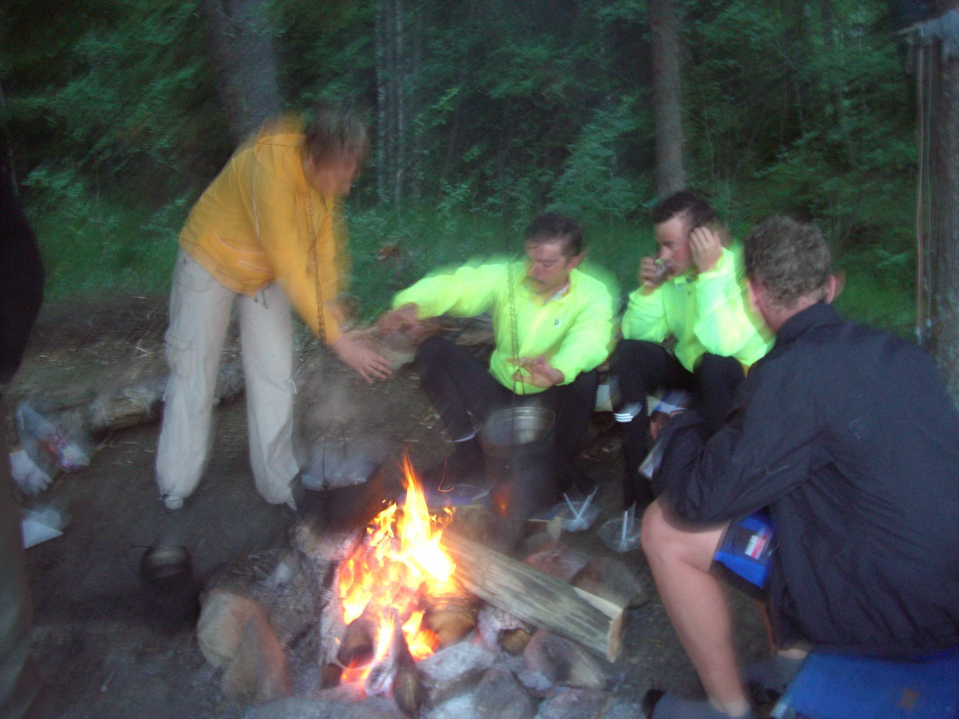 Lagerfeuer am Onega-See