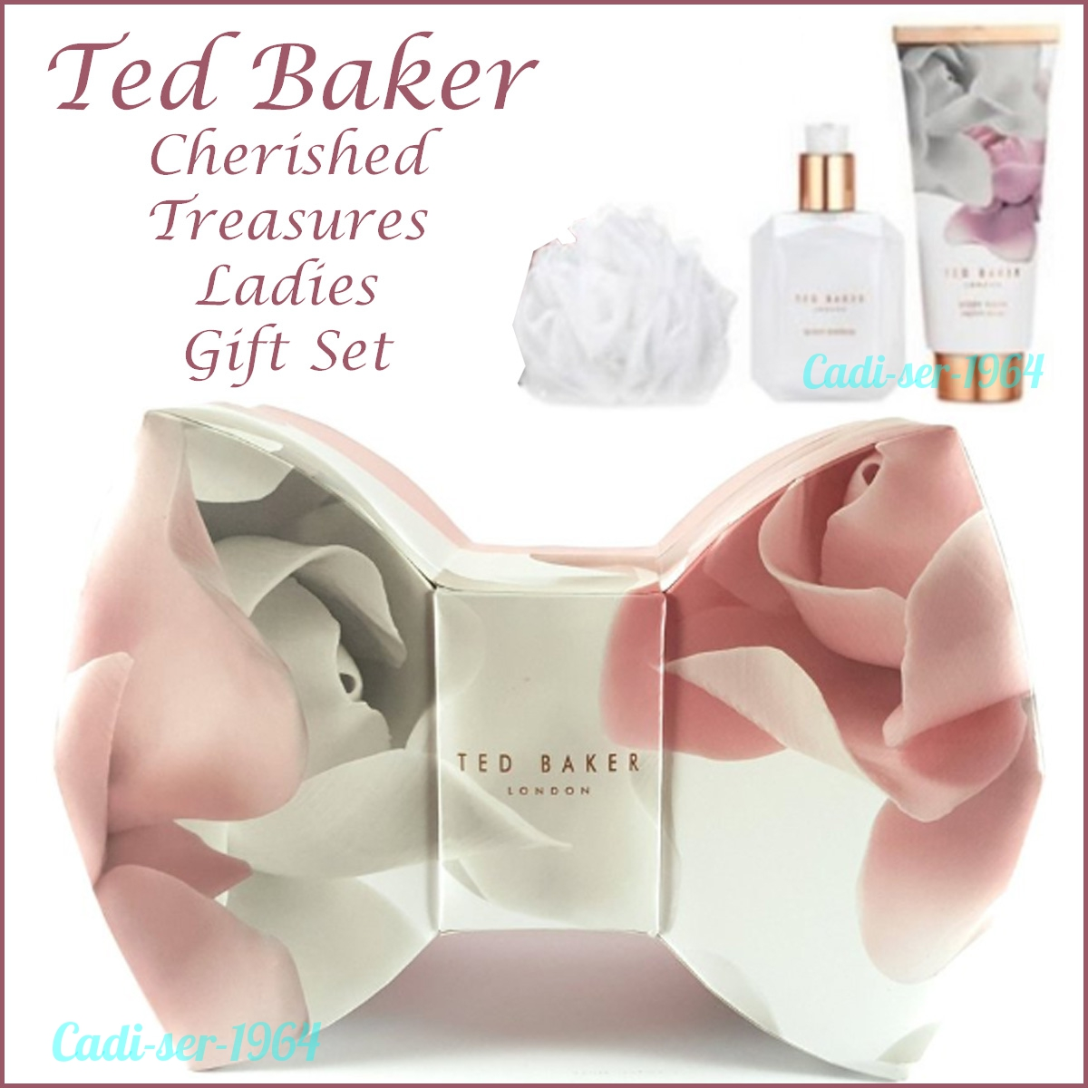 e20719414 Details about NEW Ted Baker Cherished Treasures Bow Ladies Gift Set  Porcelain Rose Collection