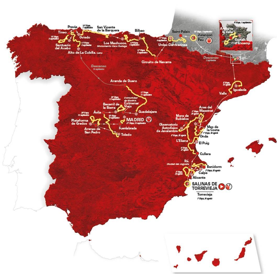 Vuelta 2019 Route