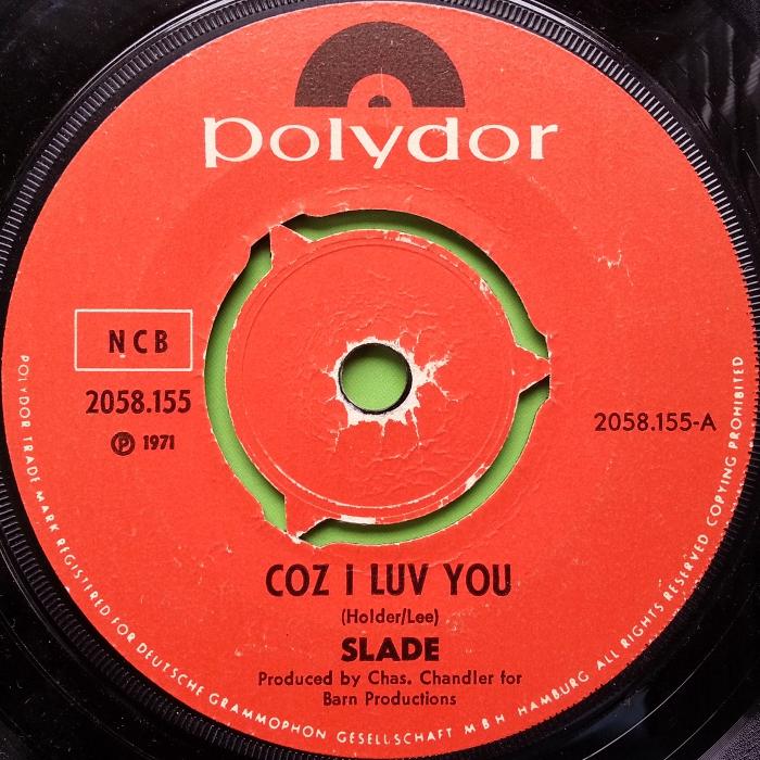 Slade Coz I Love You Sweden side 1