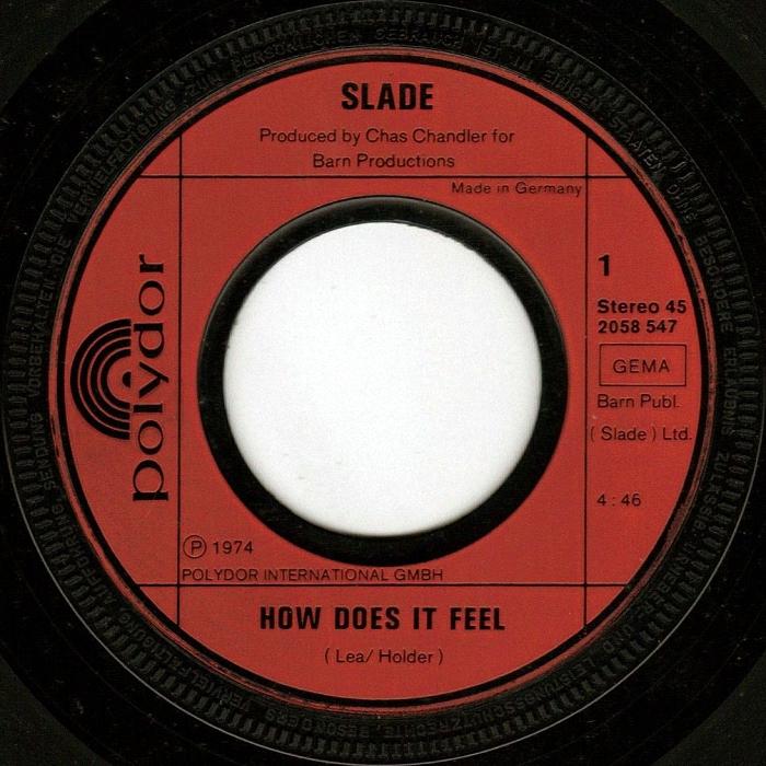 Slade How Does It Feel Germany side 1