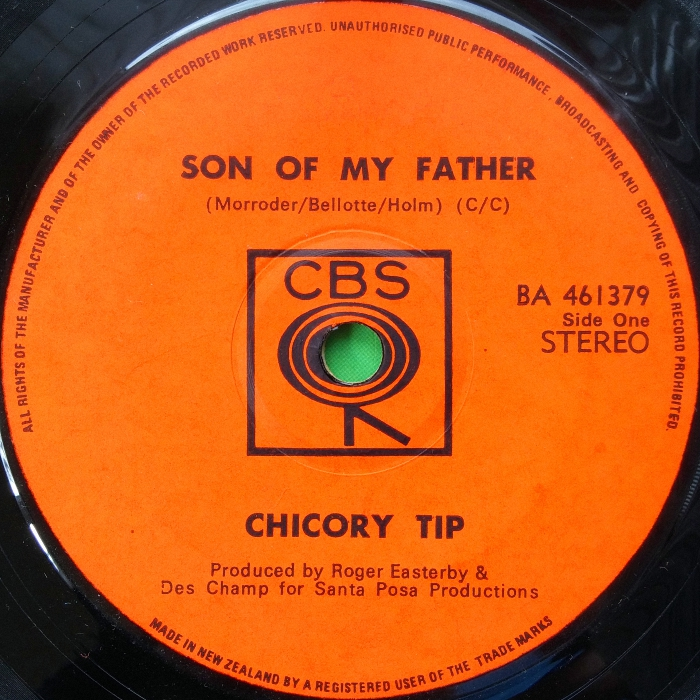 Chicory Tip Son of My Father New Zealand side 1