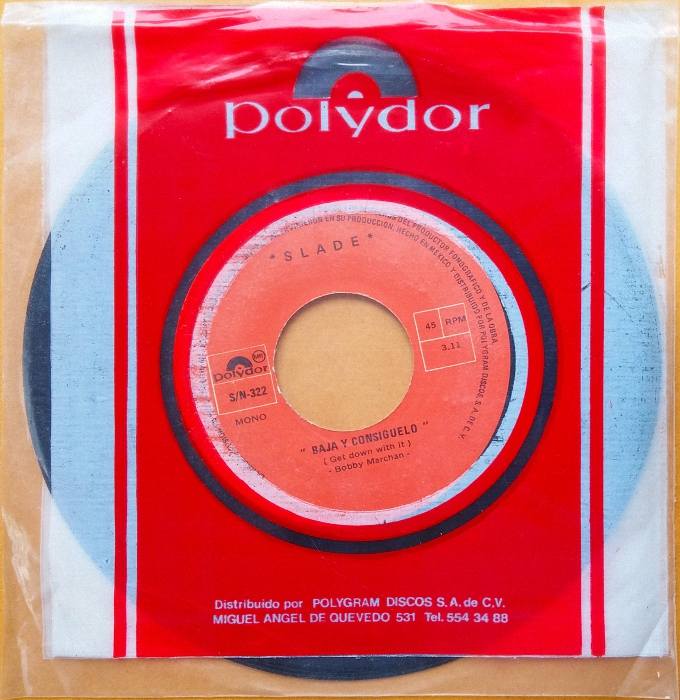 Slade Get Down And Get With It Mexico sleeve back