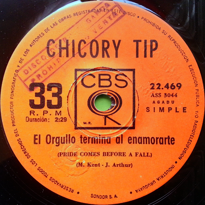 Chicory Tip Son of My Father Uruguay promo side 2