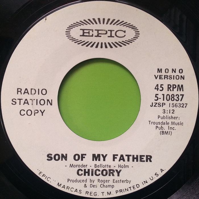 Chicory Son of My Father promo U.S.A. side 1