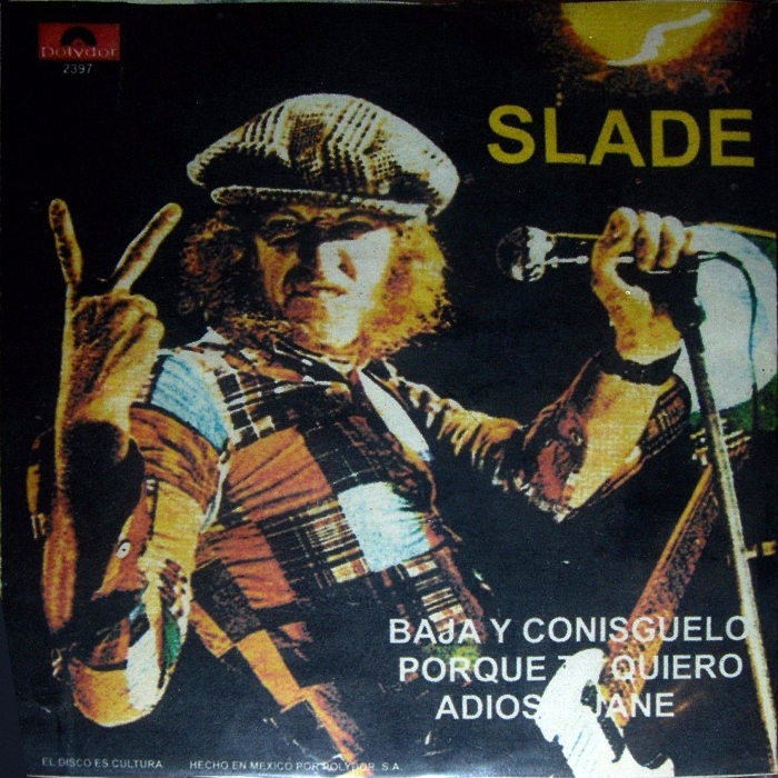 Slade Get Down And Get With It Mexico (bootleg?) sleeve back