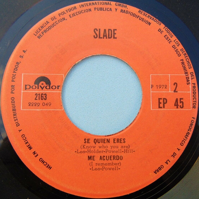 Slade Get Down And Get With It Mexico side 2