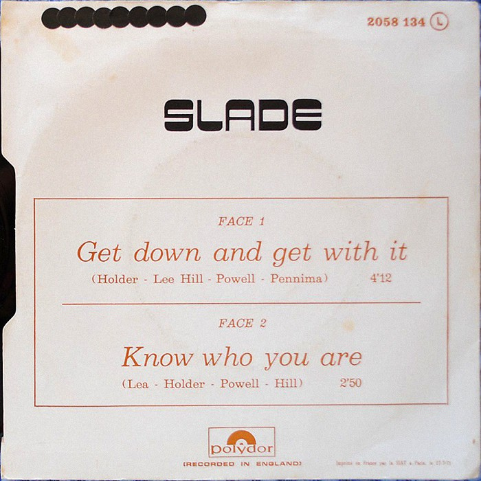 Slade Get Down And Get With It France back