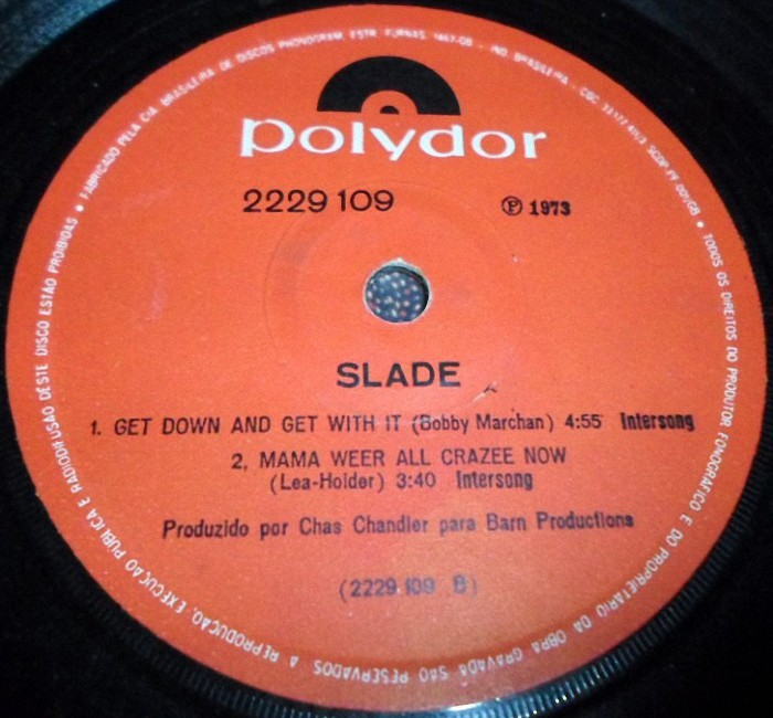 Slade Get Down And Get With It EP Brazil side 2