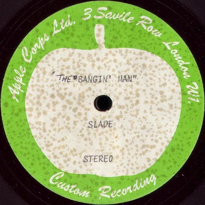 Slade The Bangin' Man acetate UK side 1