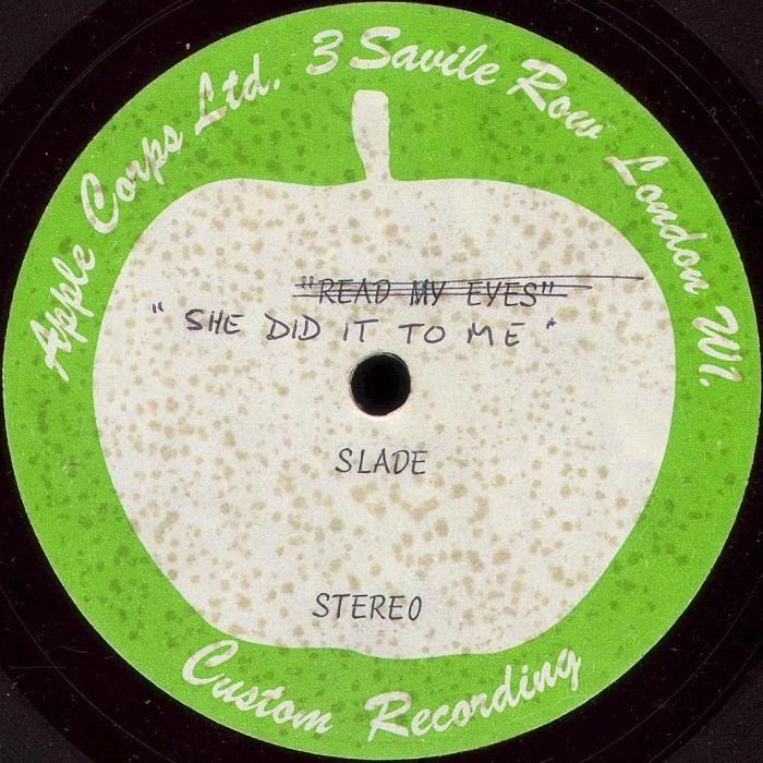 Slade The Bangin' Man acetate UK side 2