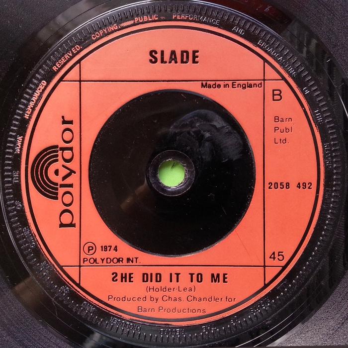 Slade The Bangin' Man UK side 2
