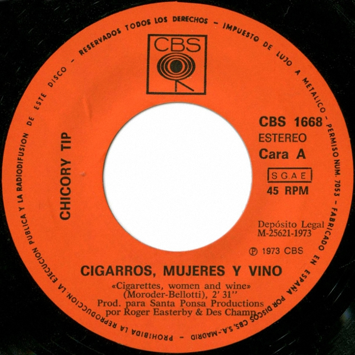Chicory Tip Cigarettes, Women & Wine Spain side 1