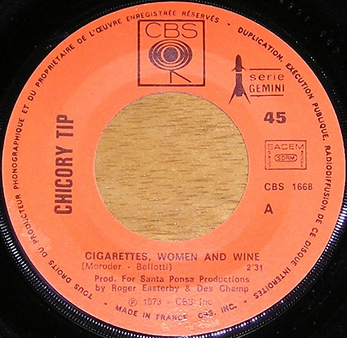 Chicory Tip Cigarettes, Women & Wine France side 1