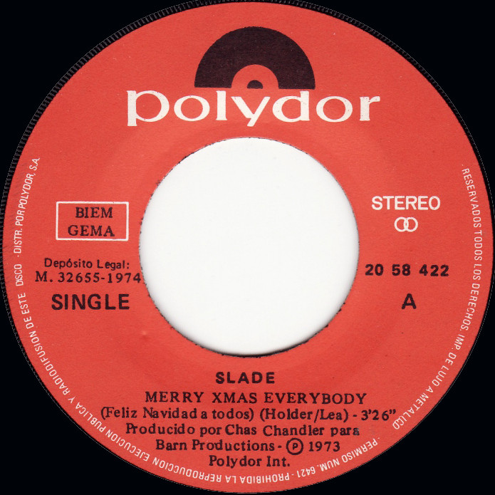 Slade Merry Christmas Everybody Spain side 1