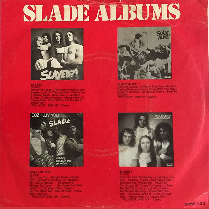 Slade Merry Xmas Everybody Holland back