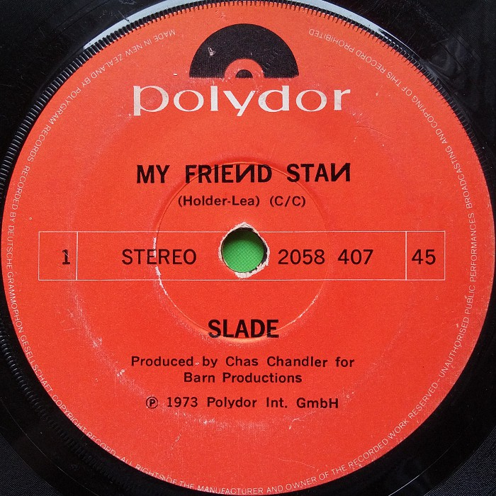 Slade My Friend Stan New Zealand side 1