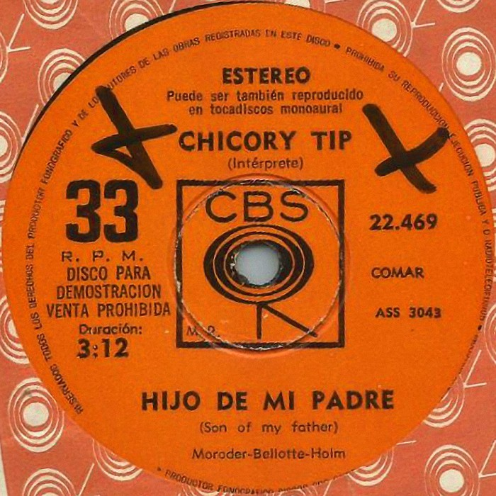 Chicory Tip Son of My Father Argentina promo side 1