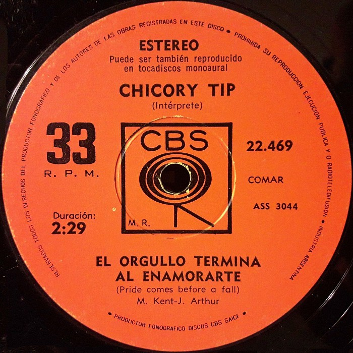 Chicory Tip Son of My Father Argentina side 2