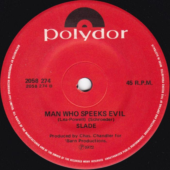 Slade Mama Weer All Crazee Now Australia side 2