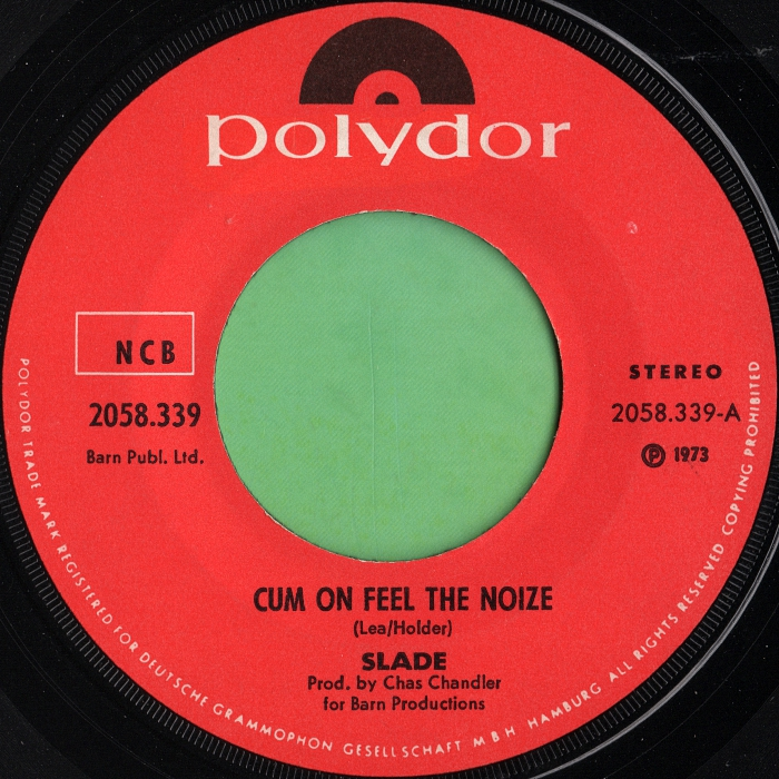 Slade Cum On Feel The Noize Norway side 1