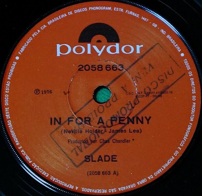 Slade In For A Penny Brazil promo side 1