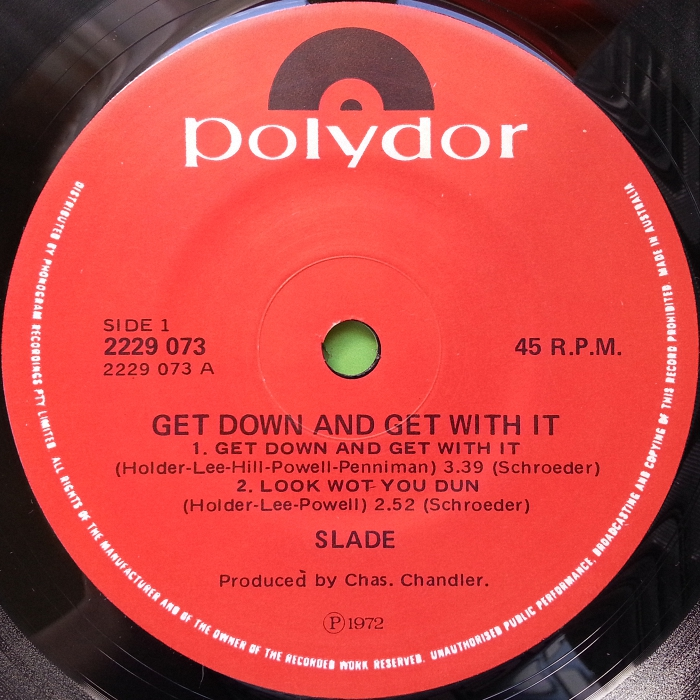 Slade Get Down And Get With It EP Australia side 1