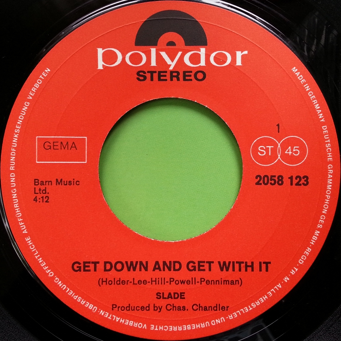 Slade Get Down And Get With It Germany side 1