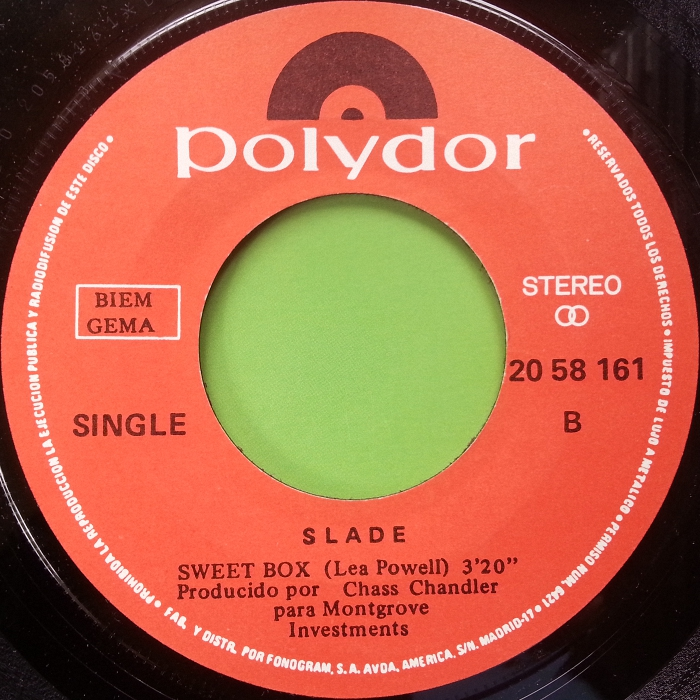 Slade Get Down And Get With It Spain side2