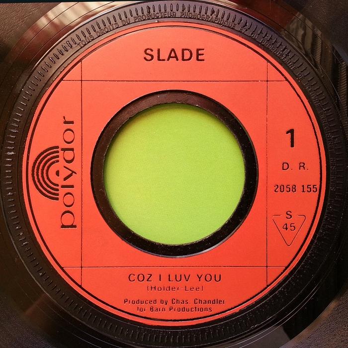 Slade Coz I Love You UK side 1 alternate jukebox