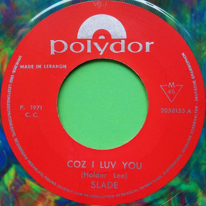 Slade Coz I Love You Iran side 1