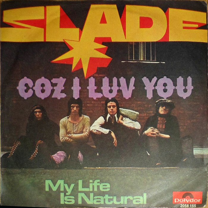 Slade Coz I Love You Italy front